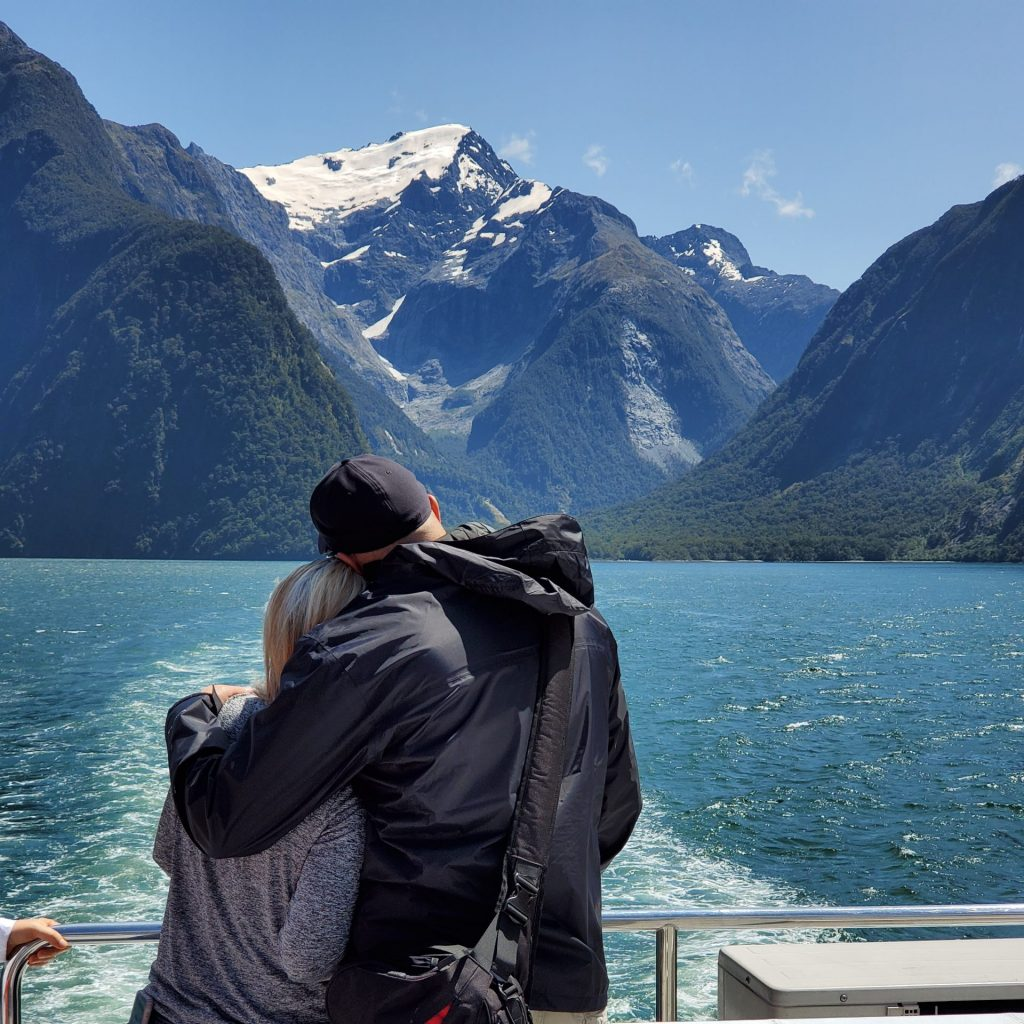 Taking in Milford Sound