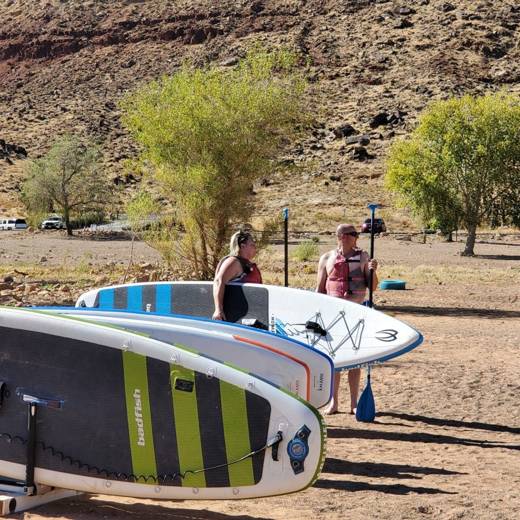 Paddle boarding in St. George